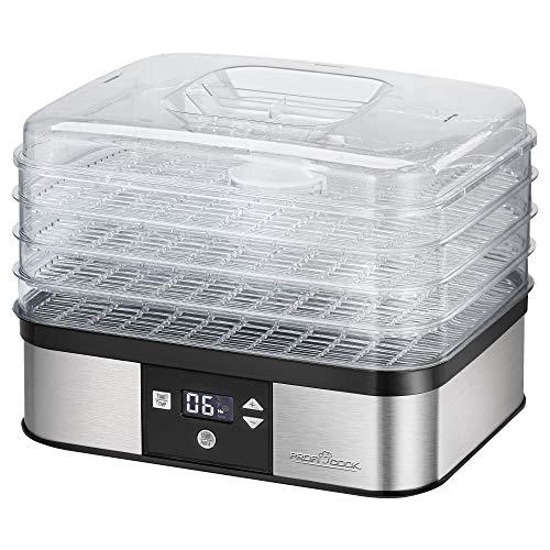 ProfiCook PC-DR 1116 Dörrautomat, 7-stufige elektronische Temperatureinstellung, Umluftgebläse,...