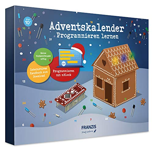 FRANZIS Adventskalender Programmieren lernen 2020 | In 24 Schritten lustige Lebkuchenhaus-Projekte...