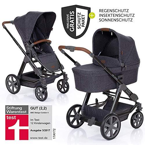 ABC Design Condor 4 (2019) - Kombikinderwagen - XXL Kinderwagen Set 2in1 - inkl. Babywanne, Sportwagen,...
