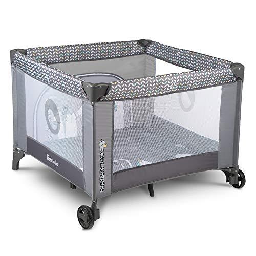 Lionelo Sofie Laufstall Laufstall Baby Baby Bett Reisebett Baby ab Geburt bis 15 kg Seiteneingang Lockguard...