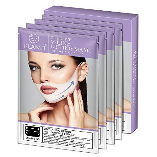 V Gesichtsmasken V Sculpt Maske V Förmige Slimming Maske Reduziert Doppelkinn Natürliches Facelifting gegen...