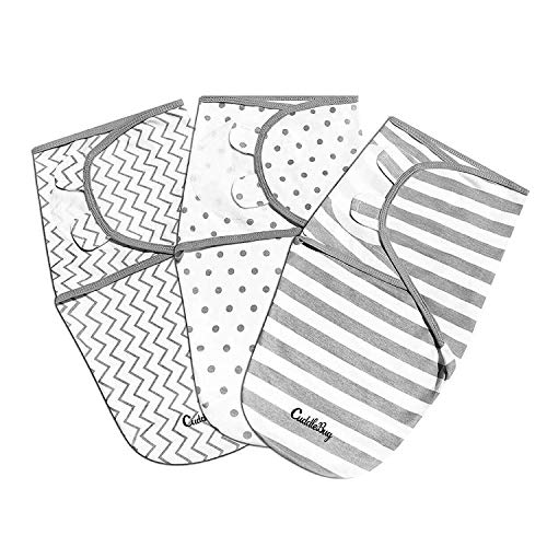 Baby Puckdecke Pucktuch Wickel-Decke von Cuddlebug - 3er Pack - Universal Verstellbare Schlafsack Decke für...