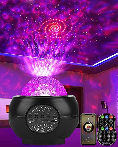 DeepDream LED Sternenhimmel Projektor Galaxy Light mit Batterie 27 Lichtmodus Bluetooth Musikplayer...