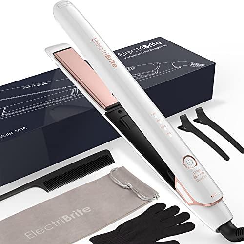 Glätteisen, Haarglätter Hair Straightener mit Hochwertigen 3D Schwimmenden Platten, 4 einstellbaren...