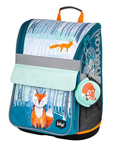 Schulranzen Mädchen 1. Klasse - Ergonomische Schultasche für Kinder - Schulrucksack mit Brustgurt -...