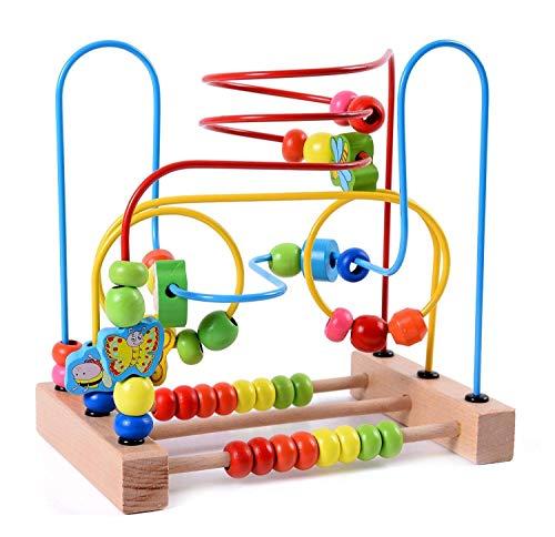 Lewo Motorikschleife aus Holz mit DREI verschiedenen Schleifen Tierkreis Roller Coaster um Korn Maze Spielzeug...