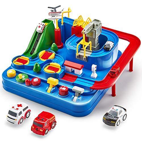 Auto Spielzeug ab 3 4 5 6 Jahre, Track Cars Spielzeug für Kinder Jungen Mädchen, Spielzeug Abenteuer Auto...