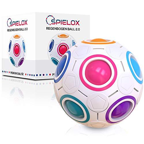 SPIELOX® Regenbogenball - Verbessertes Konzept 2021 I Knobelspiel I Geschicklichkeitsspiele für Erwachsene &...