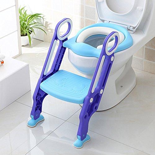 BAMNY Töpfchentrainer Toiletten-Trainer Kinder Töpfchen Kinder-Toilettensitz mit Leiter Töpfchen Sitz für...