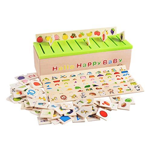 F Fityle: Montessori Steck- und Sortierspiel aus Holz