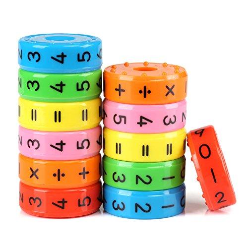 Kesote 2 Stück Lernspielzeug Mathematik Rechenrolle Einschulung Mathe Lernen Rechnen Spielzeug Schulanfang...