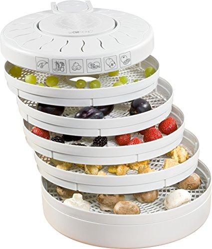 Clatronic DR 2751 Dörrautomat (250 Watt, trocknet Obst, Gemüse, Kräuter, Fleisch und mehr, 5 stapelbare...