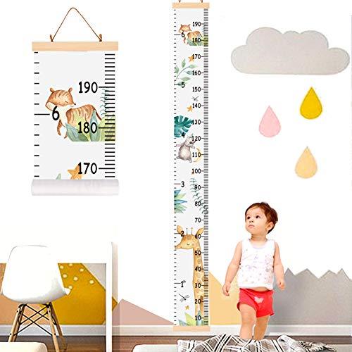 YZNlife Messlatte Höhe Diagramm, Tier Höhe Wachstum Diagramm Kindermesslate für Kinder, Aufrollbare...