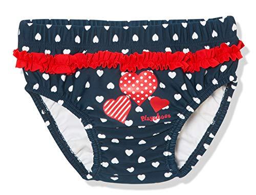 Playshoes Baby-Mädchen UV-Schutz Windelhose Herzen Schwimmwindel, Blau (Marine 11), (Herstellergröße:...