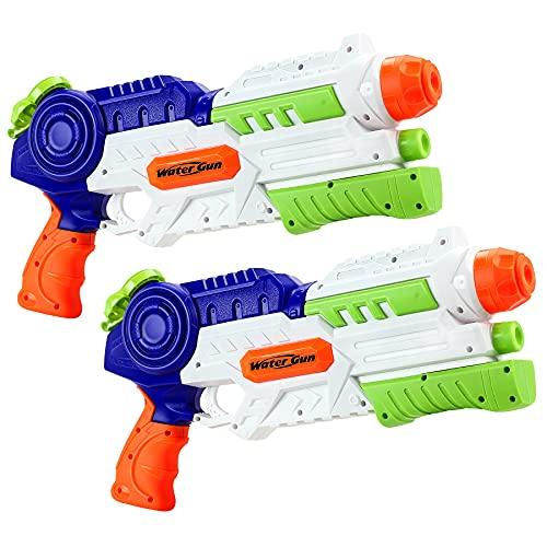lenbest Wasserpistole, 2 Pack Wasser Blaster, 1.2L Großer Kapazität, Super Squirt Wasserpistolen - Sommer...