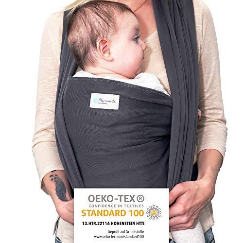 Mammacita Tragetuch Baby aus OEKO-TEX Baumwolle - Babytragetuch von Hebamme entwickelt - Baby Tragetuch für...