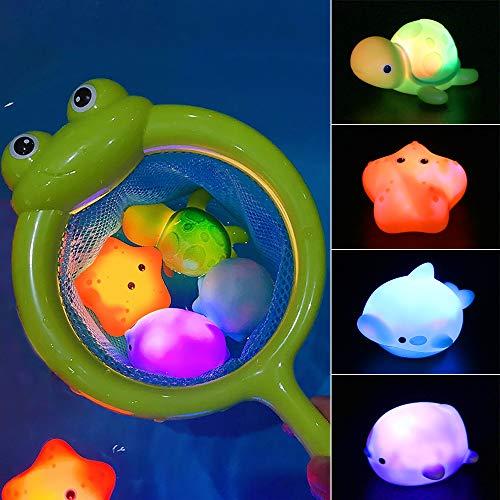 MMTX Baby Badespielzeug, Leuchtendes Badewannenspielzeug Wasserspielzeug Baby Bade Schwimmen Badewanne Pool...