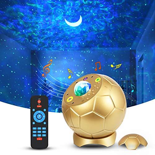 LED Sternenhimmel Projektor,Fußballform Nachtlicht Sternenhimmel mit Fernbedienung,65 Lichteffekte...
