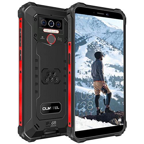 OUKITEL WP5 Outdoor Smartphone Ohne Vertrag, 4G Outdoor Handy Dual SIM, IP68 Wasserdichter, 8000mAh Akku, 4GB...