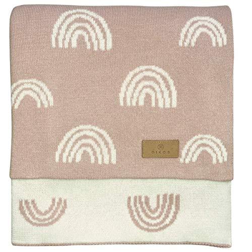 Babydecke Baumwolle rosa Regenbögen - aus * 100% * GOTS BIO Baumwolle kbA kontrolliert biologischer Anbau...