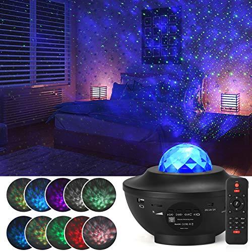 Sternenprojektor Nachtlicht,Einstellbarer Sternenprojektor mit 21 Beleuchtungsmodi mit Fernbedienung und...