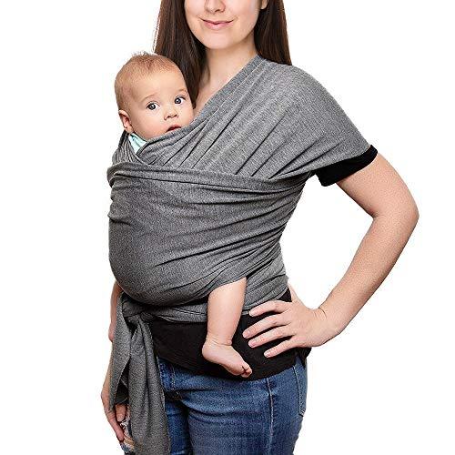 Babytragetuch, Elastisches Tragetuch Baby Baumwolle Sling Tragetuch für Neugeborene Kleinkinder Kinder Baby...