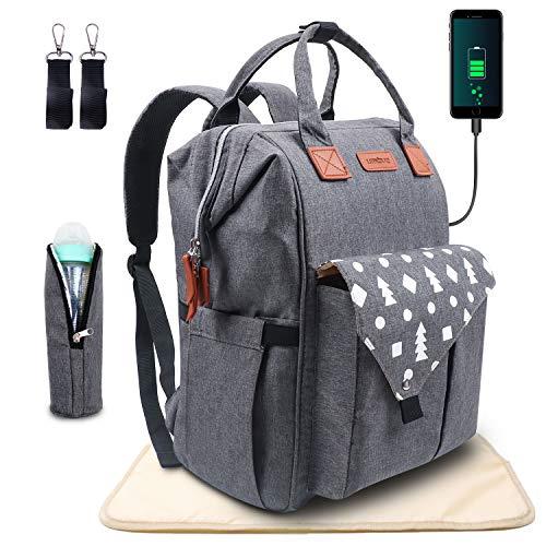 Umitive Baby Wickelrucksack, Wickeltasche Rucksack Multifunktional mit USB für Reisen, Große Kapazität,...