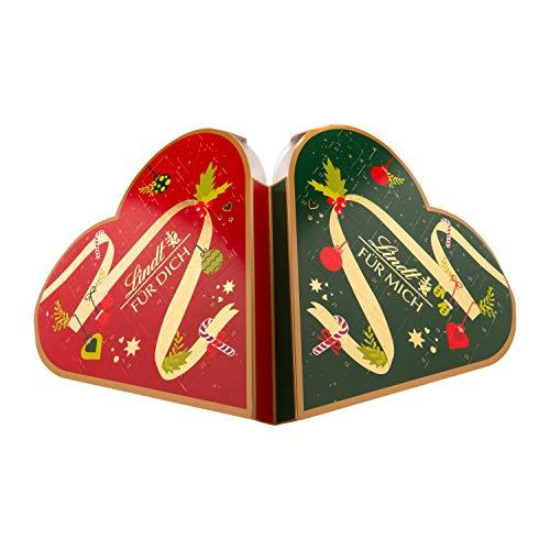Lindt Pärchen-Adventskalender für 2 Personen (2 x 24 verschiedene Schokoladen-Überraschungen) 2 x 252,5g,...