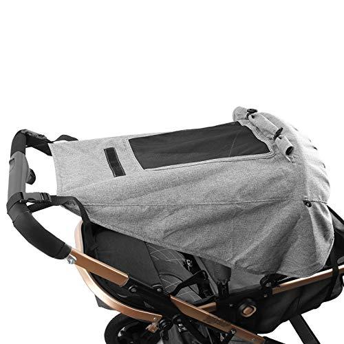 Mture Kinderwagen Sonnensegel, Universal Kinderwagen Sonnensegel mit Sichtfenster und Seitenflügel mit UV...