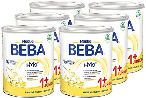 Nestlé BEBA JUNIOR 1 Milchgetränk ab dem 1. Geburtstag, 6er Pack (6 x 800g)