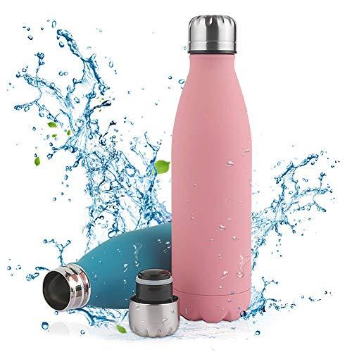 Nasharia Edelstahl Trinkflasche, Vakuum Isolierte Wasserflasche - 500/750ml - BPA Frei, Thermosflasche für...