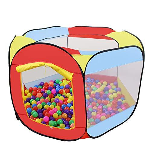 MAIKEHIGH Bällebad Spielzelt für Kinder, 6-seitig Faltbare Bällebad Babyspielplatz Zelt tragbare Sechseck...