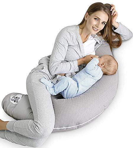 Sei Design Stillkissen Schwangerschaftskissen 170 x 30 cm, Füllung: schadstoffgeprüfte 3-D Faserbällchen...
