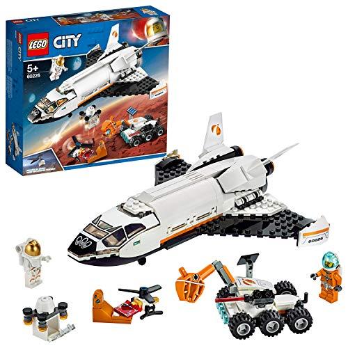 LEGO 60226 City Mars-Forschungsshuttle mit 2 Minifiguren und Flugdrohne, Bauspielzeug für Kinder inspiriert...