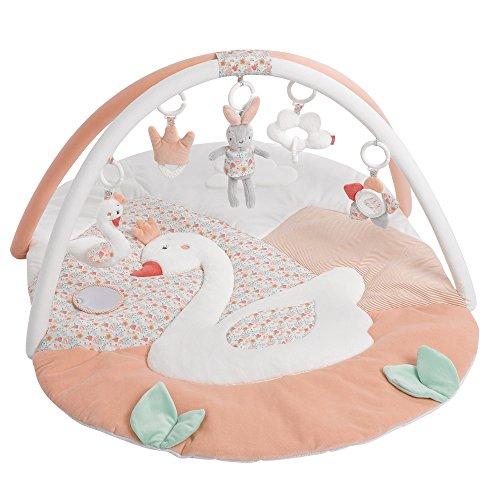 Fehn 062144 3-D-Activity-Decke Schwanensee   Spielbogen mit 5 abnehmbaren Spielzeugen für Babys Spiel & Spaß...