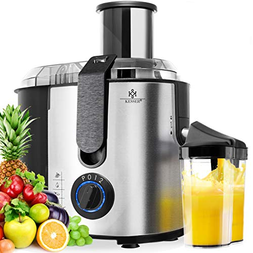 KESSER® Entsafter für Obst und Gemüse aus Edelstahl 1100W große 85 mm Einfüllöffnung inkl....