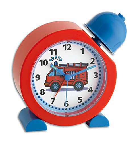 TFA Dostmann TATÜ-TATA Analoger Kinderwecker, 60.1011.05, Feuerwehr Uhr, für Kinder geeignet, einfache...