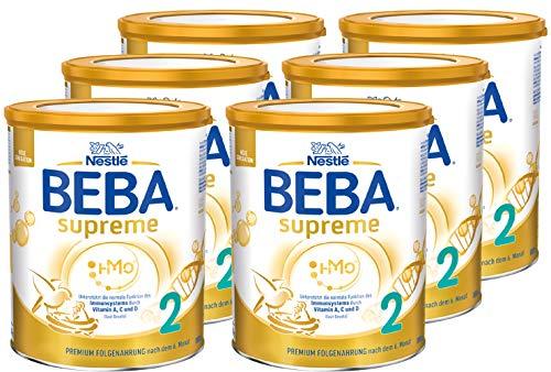 Nestlé BEBA SUPREME 2 Folgenahrung: nach dem 6. Monat, Pulver, im Anschluss an das Stillen, 6er Pack (6 x...