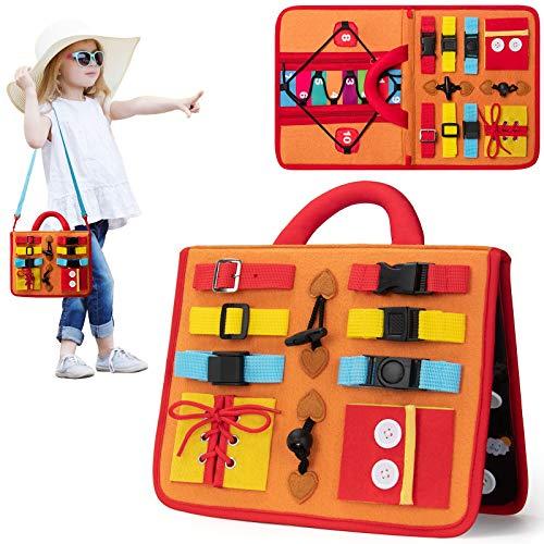 teytoy Busy Board Montessori Spielzeug, Lernspielzeug für Kleinkinder Spielzeug zum Erlernen grundlegender...