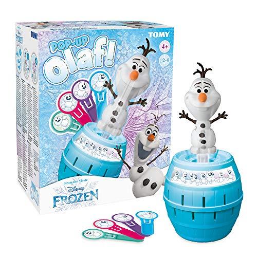 TOMY T73038 Pop Up Olaf Kinder Brettspiel, Familien- und Vorschulkinderspiel, Action-Spiel für Kinder...