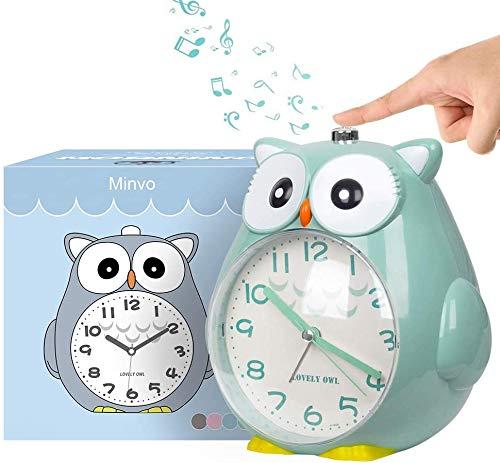 KOROTUS COLLECTION Wecker Kinder ohne Ticken Kinderuhr mit nachtlicht Schlafzimmer Snooze Funktion Uhr Leise...