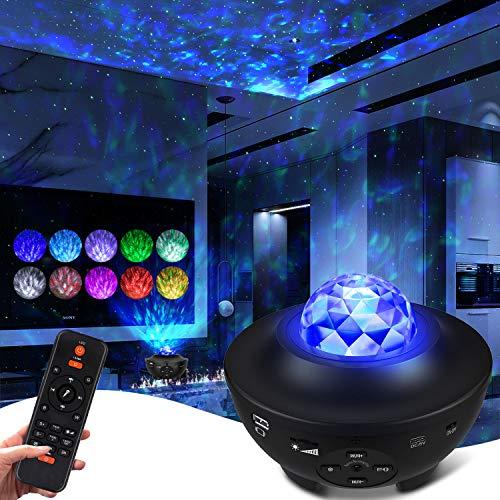 LED Sternenhimmel Projektor, Sternenlicht Projektor Sternprojektor für Schlafzimmer 10 Farben Ambiente mit...