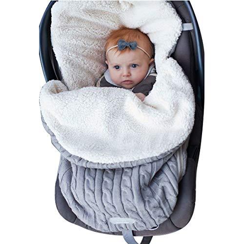 Wickeldecke für Kinderwagen, Schlafsack für Neugeborene Kinderwagensack für Mädchen oder Jungen von 0-12...