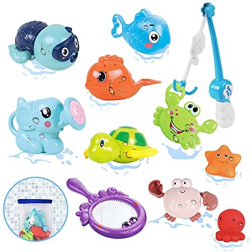 Luclay Badewannenspielzeug Badespielzeug Baby ab 1 2 3 4 5 Jahr,Kinder Wasser Dusche Wasserspielzeug Geschenk...
