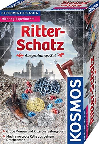 KOSMOS Ritter-Schatz Ausgrabungs-Set, Für Mittelalter-Fans und kleine Archäologen. Mit Drachenzahn,...