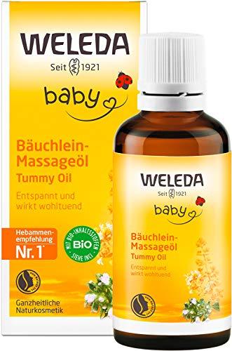 WELEDA Baby Bäuchlein Massageöl, Naturkosmetik Massage Öl gegen Bauchschmerzen und Krämpfe von Babys und...
