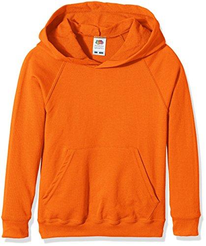 Fruit of the Loom Unisex - Kinder Kapuzenpullover Raglan Lightweight, Orange (Orange), 7-8 Jahre...