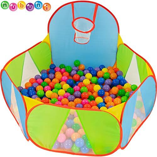 NUBUNI Bällebad für Kinder : Bällepool : Bällebad für Baby : Kleinkind Bällchenpool : Bällchenbad :...