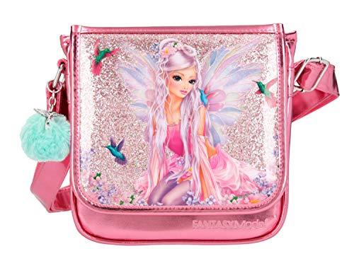 Depesche 10852 Kleine Umhängetasche für Mädchen im FANTASYModel Fairy Design in pink, ca. 23 x 20 x 6,5 cm,...