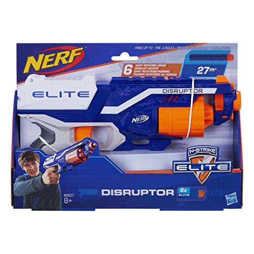 Hasbro B9837EU4 - N-Strike Elite Disruptor Spielzeugblaster, mit Trommelmagazin